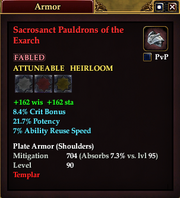 Sacrosanct Pauldrons of the Exarch