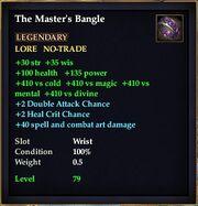 The Master's Bangle