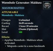 Wormhole Generator Maldura