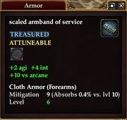 Scaled armband of service