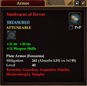 Vambraces of Fervor