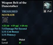 Weapon Belt of the Dunestalker