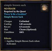 Simple brown sack