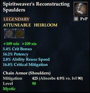 Spiritweaver's Reconstructing Spaulders