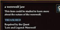 A werewolf jaw