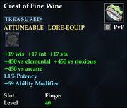 Crest of Fine Wine