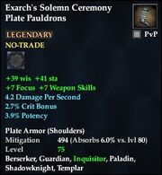 Exarch's Solemn Ceremony Plate Pauldrons
