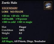 Zoetic Halo
