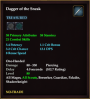 Dagger of the Sneak