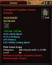 Corrupted Combine Armor Greaves
