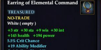 Earring of Elemental Command