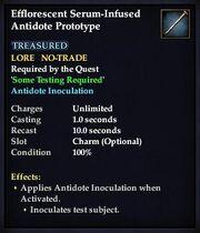 Effloresecent Serum-Infused Antidote Prototype