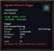 Aquatic Wizard's Dagger