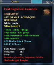 Cold Forged Iron Gauntlets