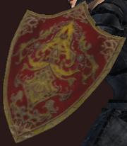 Crimson Knight's Shield (Equipped)