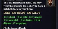 A hatchet mask