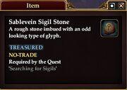 Sablevein Sigil Stone
