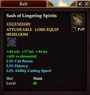 Sash of Lingering Spirits