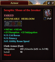Seraphic Shoes of the Invoker