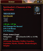 Spiritualist's Chausses of the Spiritcaller