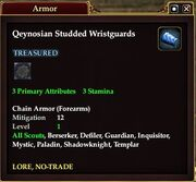 Qeynosian Studded Wristguards