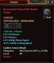 Sacrosanct Cap of the Forest Scion