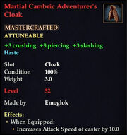 Martial Cambric Adventurer's Cloak