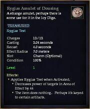 Rygias Amulet of Dousing