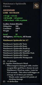 Watchman's Spidersilk Gloves