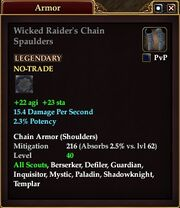 Wicked Raider's Chain Spaulders