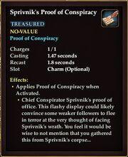 Sprivnik's Proof of Conspiracy