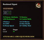 Burdened Signet