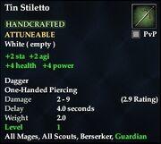 Tin Stiletto