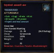 Feysteel assault axe