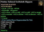 Tailored Swiftcloth Slippers
