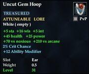 Uncut Gem Hoop