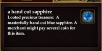 A hand cut sapphire