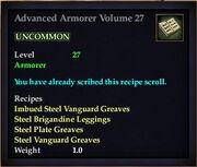 Advanced Armorer Volume 27