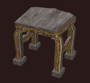 An Ornate Freeport Stool Placed