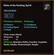 Helm of the Fending Spirit