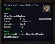 Squire's Virtuous Battle Axe