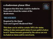 A shadowman planar fiber
