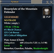 Breastplate of the Mountain Defender