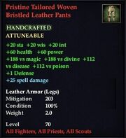 Pristine Tailored Woven Bristled Leather Pants