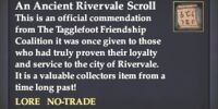 An Ancient Rivervale Scroll