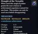 Draught of the Versatile