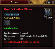 Druid's Leather Gloves