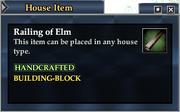 Railing of Elm