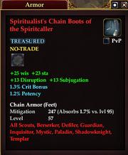 Spiritualist's Chain Boots of the Spiritcaller