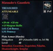 Marauder's Gauntlets (Treasured)